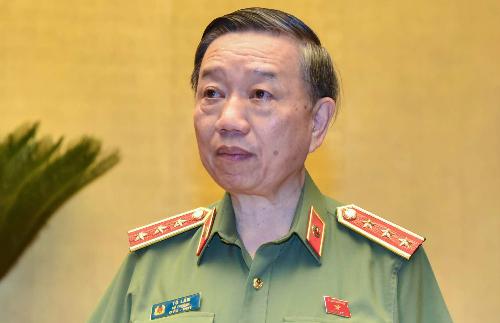 Bộ trưởng Công an Tô Lâm. Ảnh: QH