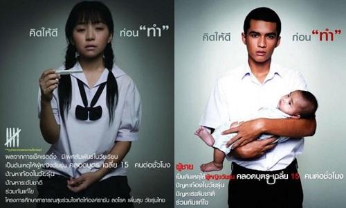Mang thai sớm là vấn nạn ở Thái Lan. Ảnh: The Nation