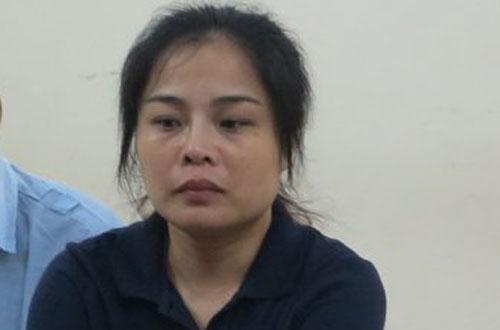 Siêu lừa Phạm Thanh Nga tại phiên tòa sơ thẩm.