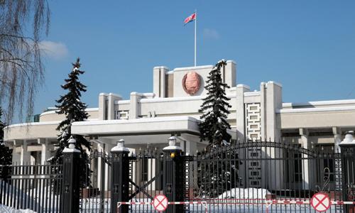 Đại sứ quán Triều Tiên tại Moscow, Nga. Ảnh: Reuters.