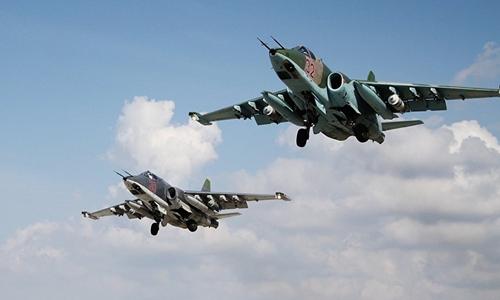 Cường kích Su-25 của Nga. Ảnh:Sputnik.