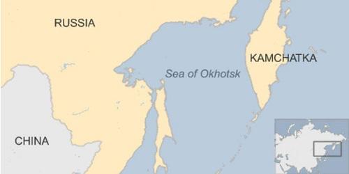 Vị trí biển Okkotsk. Đồ họa: BBC.