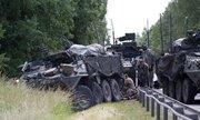 4 thiết giáp Mỹ mất lái, đâm vào nhau gần biên giới Nga