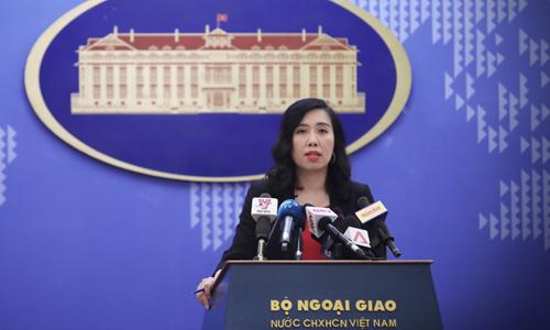 Bà Lê Thị Thu Hằng, người phát ngôn Bộ Ngoại giao Việt Nam. Ảnh: BNGVN.