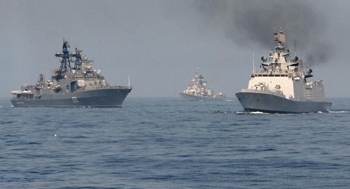 Tàu chiến thuộc Hạm đội Thái Bình Dương của Nga. Ảnh: Sputnik.