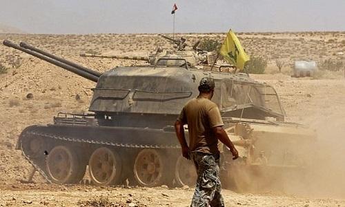 Một xe tăng của Hezbollah ở miền nam Syria hồi năm 2017. Ảnh: Times of Israel.