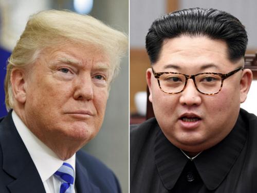 Tổng thống Mỹ Donald Trump và lãnh đạo Triều Tiên Kim Jong-un. Ảnh: AFP.