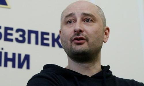 Arkady Babchenko tại cuộc họp báo hôm 30/5. Ảnh: Reuters.