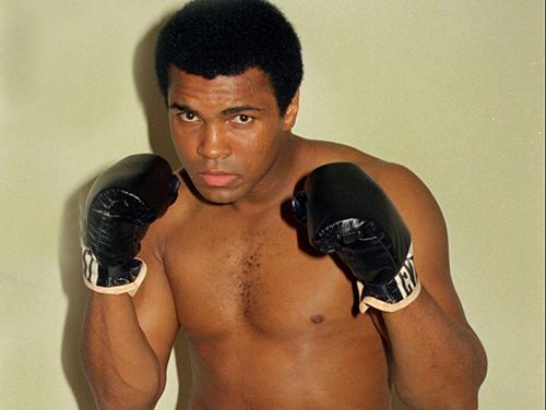 Huyền thoại quyền anh Muhammad Ali. Ảnh: AP