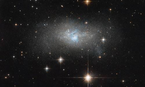 Thiên hà IC4870 là nơi nhiều ngôi sao mới ra đời.Ảnh: NASA.