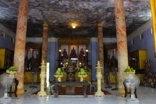 Phần đại điện chùa Diệu Đế sẽ được hạ giải đại trùng tu. Ảnh: Võ Thạnh