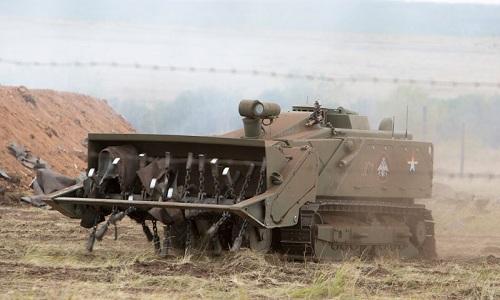 Một robot phá mìn Uran-6 của Nga. Ảnh: Army technology.