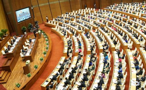 Dự thảo Luật An ninh mạng dự kiến được Quốc hội thông qua vào sáng 12/6. Ảnh: QH