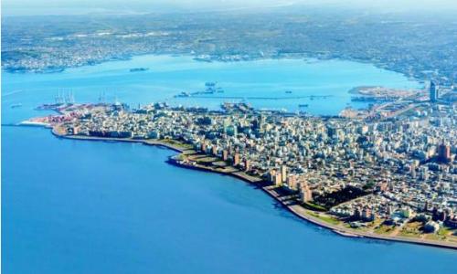 Một góc quốc gia nhỏ thứ hai Nam Mỹ nhìn từ trên cao. Ảnh: AFP