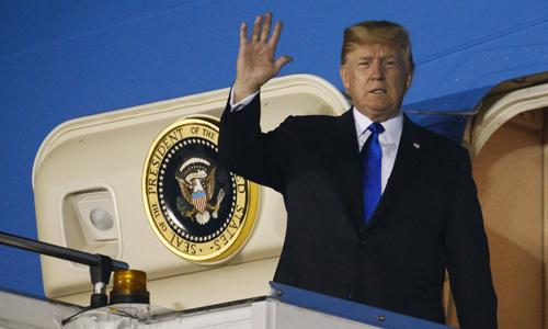 Tổng thống Mỹ Donald Trump tới Singapore hôm 10/6. Ảnh: Reuters.