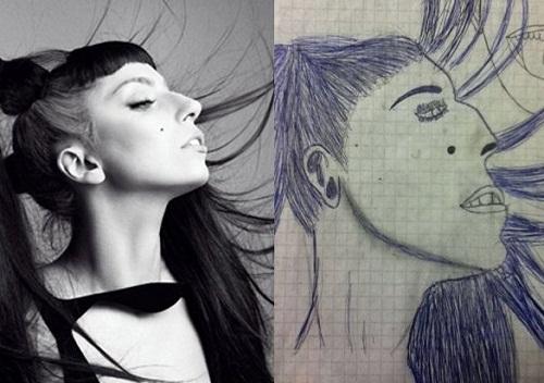 Lady Gaga phiên bản răng vẩu, miệng hô, mũi gãy.