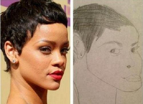 Nữ ca sĩ Rihanna chắc phải khóc thét khi thấy bức tranh này.
