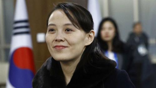 Em gái Kim Jong-un, Kim Yo-jong tại Hàn Quốc hồi tháng hai. Ảnh: AFP.