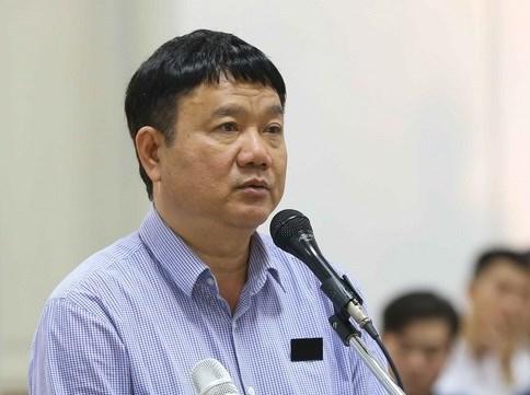 Cựu chủ tịch HĐQT/HĐTV PVN Đinh La Thăng tại phiên sơ thẩm vụ án sai phạm PVN đổ vốn vào Oceanbank.