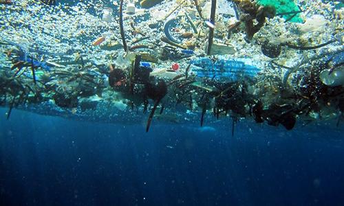 Địa Trung Hải bị ô nhiễm nghiêm trọng bởi rác thải nhựa. Ảnh: NOAA.