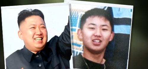 Kim Jong-un thuở đi học ở Thụy Sĩ (trái) và sau khi về Triều Tiên. Ảnh: NBC.