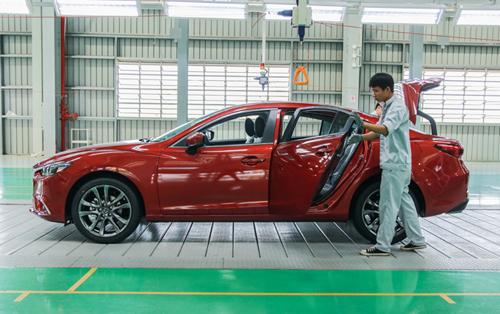 Xe lắp ráp tại nhà máy Mazda. Ảnh: Đức Huy.