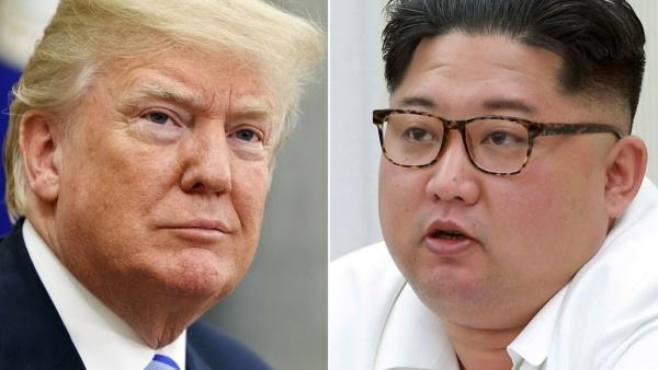 Tổng thống Mỹ Donald Trump và lãnh đạo Triều Tiên Kim Jong-un. Ảnh: