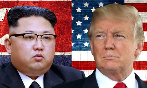 Tổng thống Mỹ Donald Trump (phải) và lãnh đạo Triều Tiên Kim Jong-un. Ảnh:CNN.