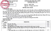 Đáp án và cách tính điểm đề Văn thi lớp 10 của Hà Nội