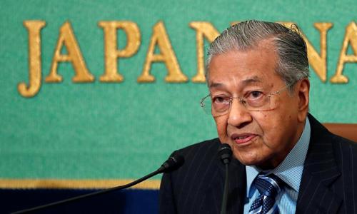 Thủ tướng Malaysia Mahathir Mohamad trong cuộc họp báo tại Tokyo, Nhật Bản hôm 11/6. Ảnh: Reuters.