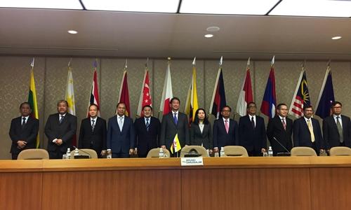 Các quan chức tham gia diễn đàn ASEAN - Nhật Bản tại Tokyo. Ảnh: BNG.