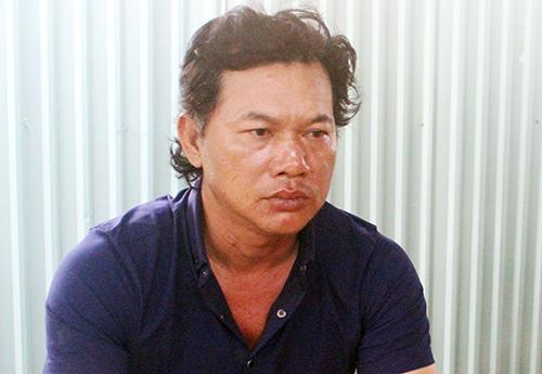 Nguyễn Văn Xuân tại cơ quan điều tra. Ảnh: Nguyễn Triều.