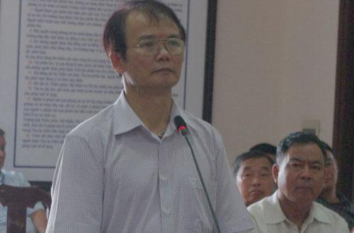 Ông Dương Quang Hợp tại phiên tòa sơ thẩm ngày 28/5.