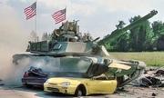 Tăng M1 Abrams Mỹ nghiền nát ôtô trong giải đấu tại Đức