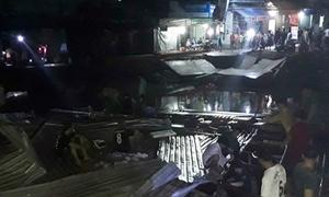 3 căn nhà bị 'nuốt chửng' trong đêm ở Cà Mau