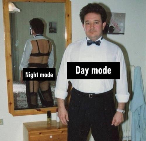 Chế độ ngày và đêm.