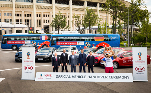 Kia Motors cung cấp 424 phương tiện trong suốt 64 trận đấu diễn ra tại FIFA World Cup 2018.