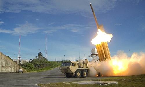 Hệ thống phòng thủ khu vực tầm cao giai đoạn cuối (THAAD). Ảnh: Reuters.