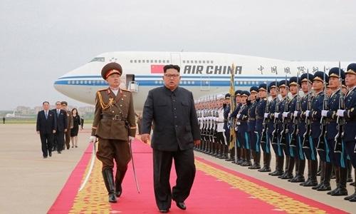 Lãnh đạo Triều Tiên Kim Jong-un trở về nước hôm 13/6 sau hội nghị thượng đỉnh với Tổng thống Mỹ Donald Trump. Ảnh: Reuters.