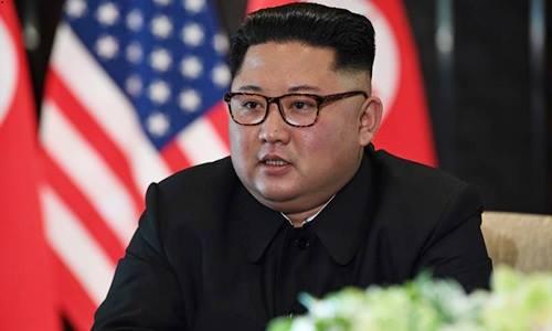 Kim Jong-un trong lễ ký kết tại Singapore ngày 12/6. Ảnh: AFP.