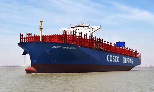 Tàu containerCOSCO Shipping Universe (H1416). Ảnh: CGTN.