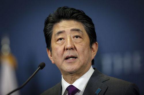 Thủ tướng Abe phát biểu trong một cuộc họp tháng 3/2018. Ảnh: AFP.