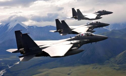 Tiêm kích F-15K Hàn Quốc tham gia tập trận tại Mỹ năm 2013. Ảnh: ROKAF.