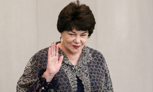 Tamara Pletnyova, Chủ tịch Ủy ban về gia đình, trẻ em và phụ nữ của Hạ viện Nga. Ảnh: RFE.