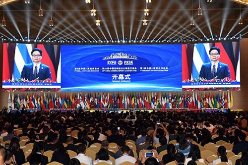 Phó thủ tướng Vũ Đức Đam phát biểu tại Lễ khai mạc hai hội chợ. Ảnh: VGP/Đình Nam.