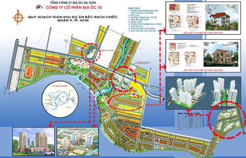 Quy hoạch toàn khu dự án Bắc Rạch Chiếc.