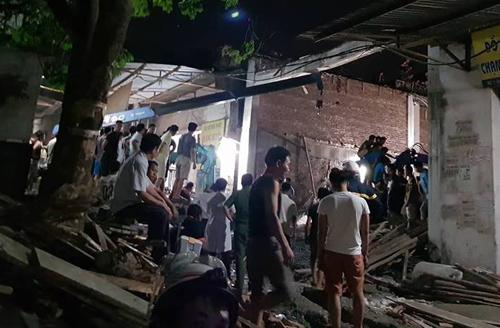 Căn nhà đang xây dựng khoảng 100 m2. Ảnh: Nam Nguyễn.
