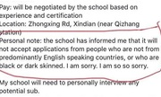 Trường Đài Loan gây tranh cãi vì không tuyển giáo viên da đen