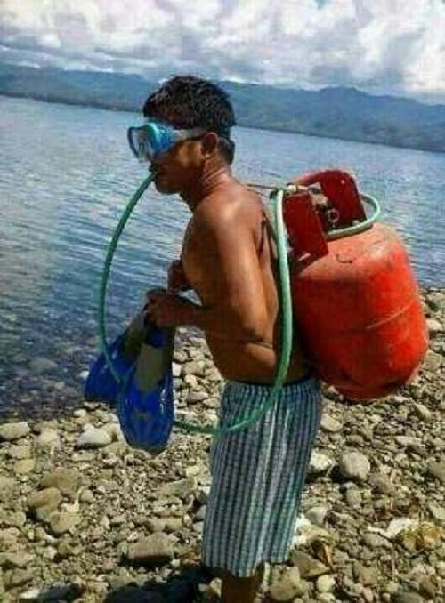 Bộ dụng cụ lặn chỉ sử dụng được một lần trong đời.