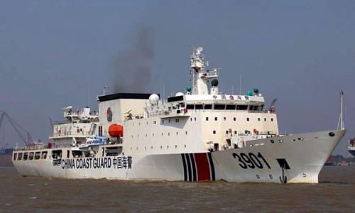 Tàu hải cảnh 3901 của Trung Quốc có lượng giãn nước 12.000 tấn. Ảnh: Diplomat.